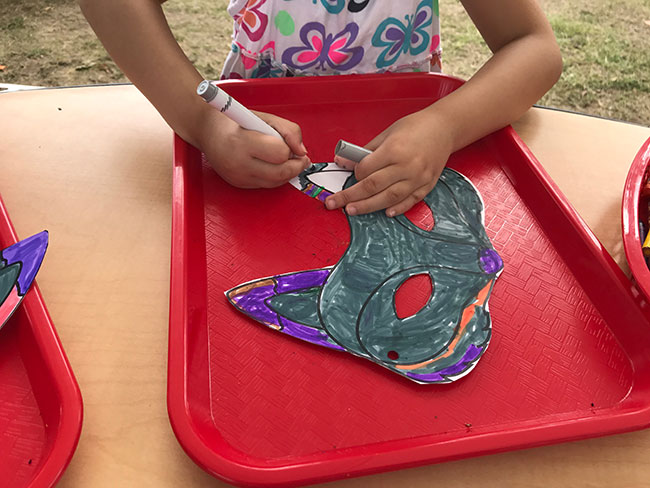 Create masks at the Alphabet Forest